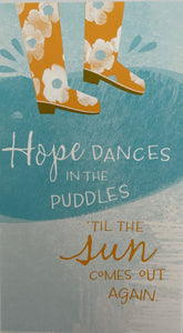 Card Encouragement : Boots Hope Dances (pack of 4)