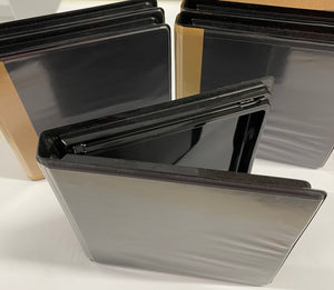 Binder CD/DVD 2-Ring Black w/Glossy Interior & Plastic Sleeve Cover/Back (set of 5)