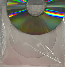 Sleeve CD/DVD White Paper & Clear Plastic (pack of 100)