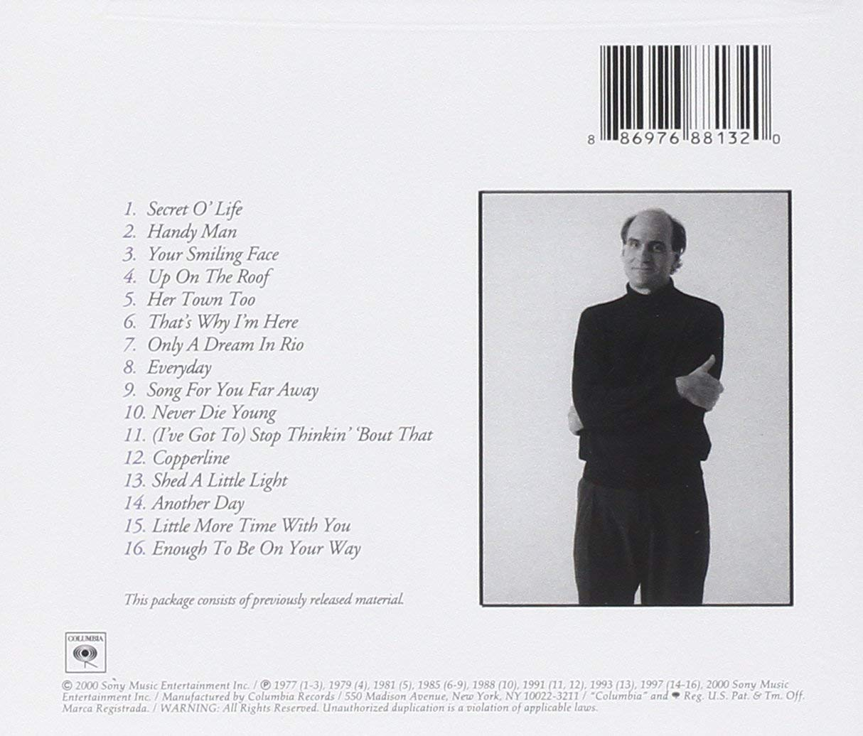 James Taylor Greatest Hits v 2 CD