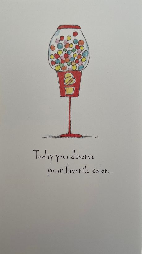 Card Birthday : Favorite Color (pack of 5)