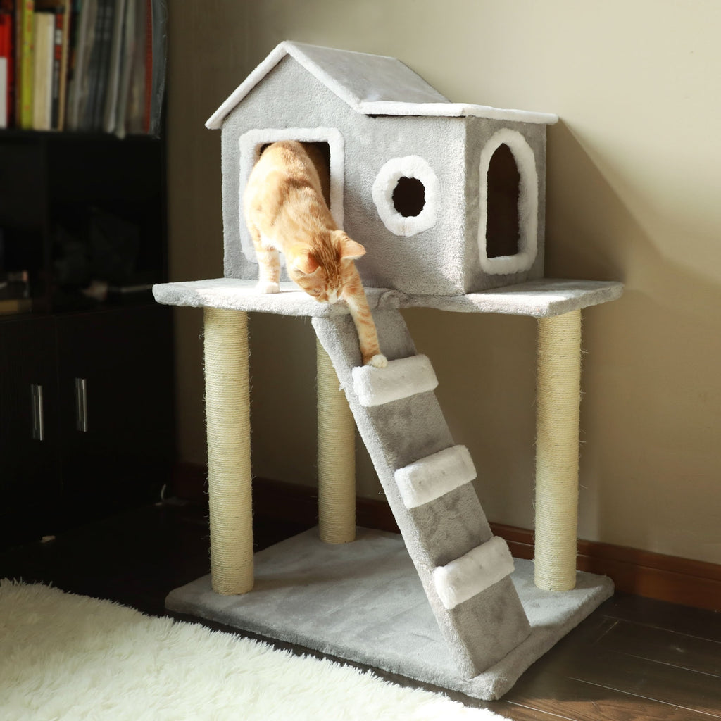 Cat Tree Condo Tower with Scratching Posts Kitty Trees House Bed Furniture