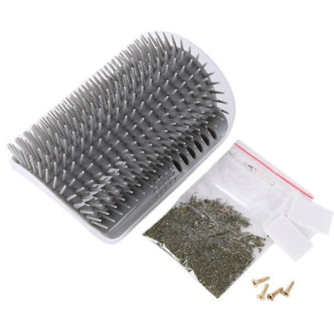 Cat Corner Scratching Rubbing Brush and Massage Comb