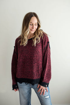 Crosby Sweater - Burgundy