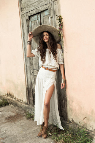 Bambi White Lace Maxi Skirt by Spell & The Gypsy