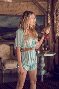 Island Boho Turquoise Romper by Spell & The Gypsy