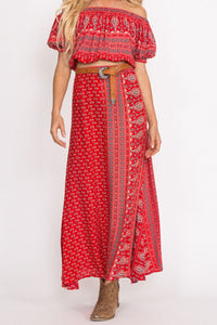 Gypsiana Maxi Skirt Red Bandana by Spell & The Gypsy