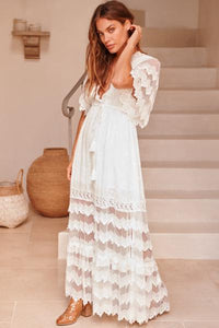 Bungalow Maxi in White Lace by Jaase Byron Bay