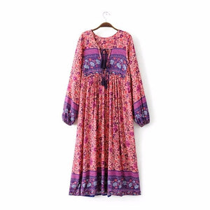 "Folktown ""Inspired"" Boho Gown in Blossom"