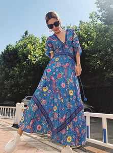 "LoveBird ""Inspired"" Maxi dress in Blue by Wild Hunai"