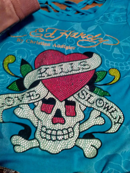 "Ed Hardy Tee ""Love Kills Slowly"""
