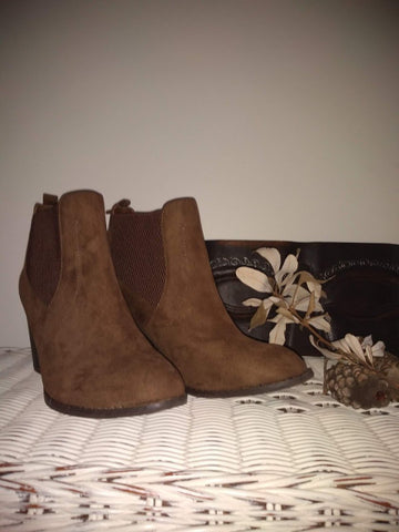 Hilary Chocolate Brown Suede Ankle Boots