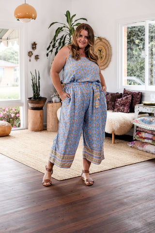 Frankie Jumpsuit in Cornflower Blue