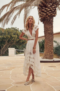 Bungalow Leora White Skirt by Jaase Byron Bay