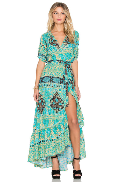 Aloha Fox Wrap Gown in Mermaid by Spell & The Gypsy