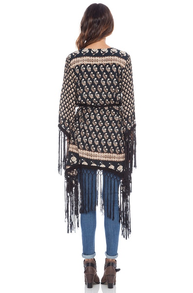 Bohemian Royale Fringe Kimino Charcoal by Spell & The Gypsy
