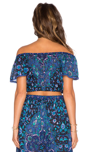Kiss The Sky Crop Top in Blue Jay by Spell & The Gypsy