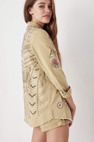 Wanderer Jacket in Taupe by Spell & The Gypsy