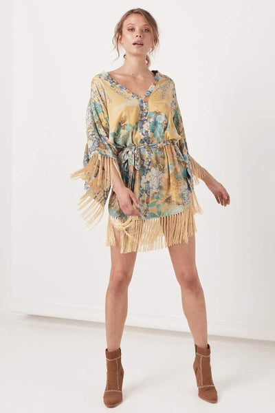 Willow Tasselled Mini Dress Meadow by Spell & The Gypsy
