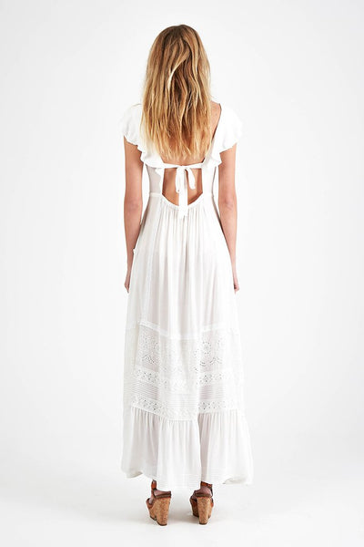 Woodstock Frill Boho Bella Dress White by Spell and the Gypsy