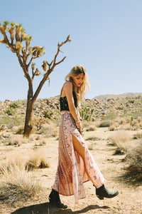 Coyote Maxi Split Skirt Peach by Spell & The Gypsy
