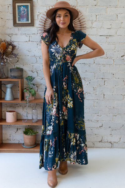 Carmen Indigo Maxi Dress by Jaase Byron Bay