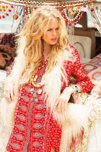Gypsiana Shirt Dress in Red by Spell & The Gypsy