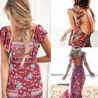 Folktown Frill Dress in Wine by Spell & The Gypsy