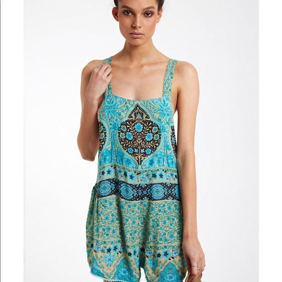Aloha Fox Overalls in Mermaid by Spell and the Gypsy