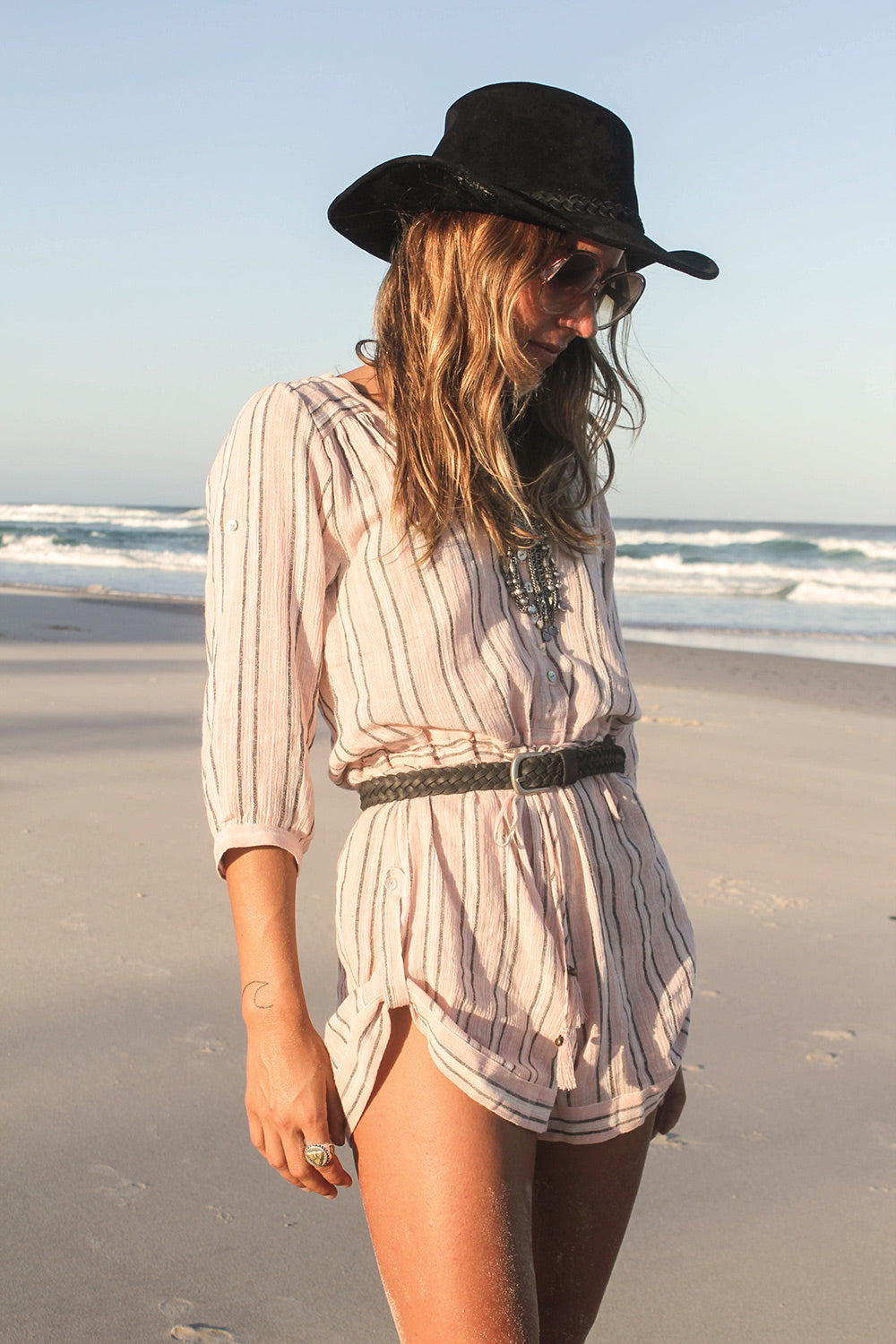 Island Boho Romper in Coral by Spell & The Gypsy