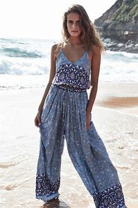 Sapphire Print Wave Jumpsuit by Jaase Byron Bay