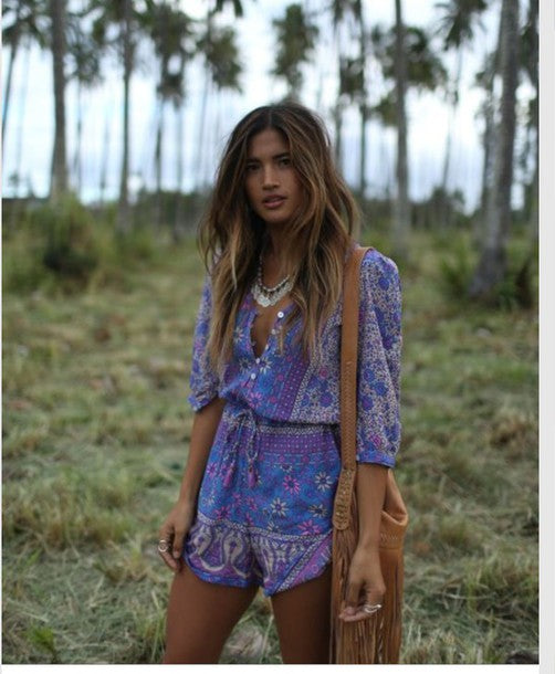 Boho Blossom Romper in Lavender by Spell & The Gypsy