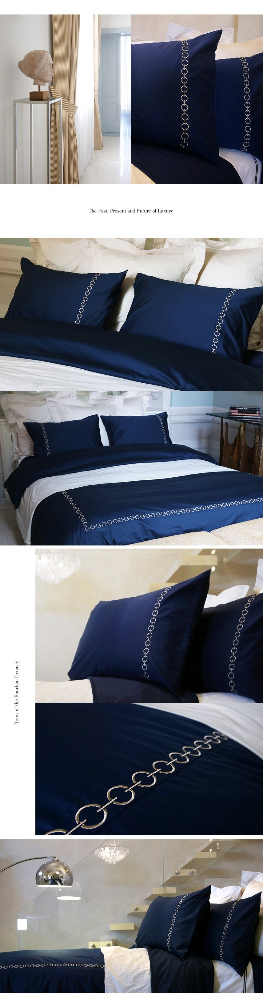 Duvet Cover Set | Ecuries Collection, Deep Blue