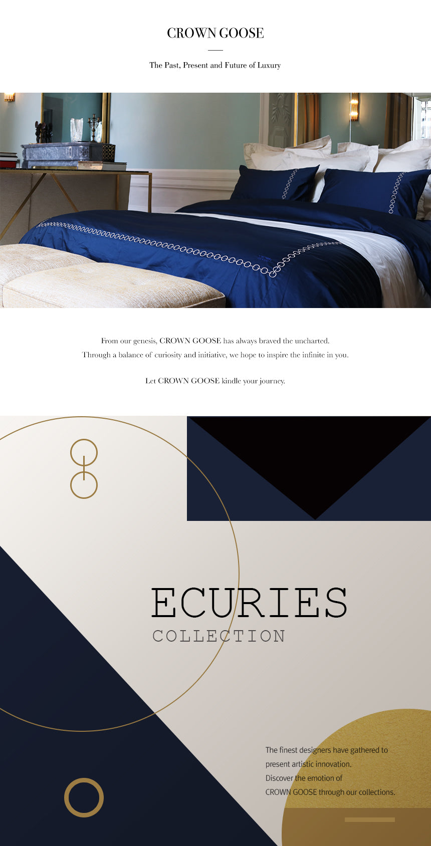 Duvet Cover Set Ecuries Collection, Deep Blue
