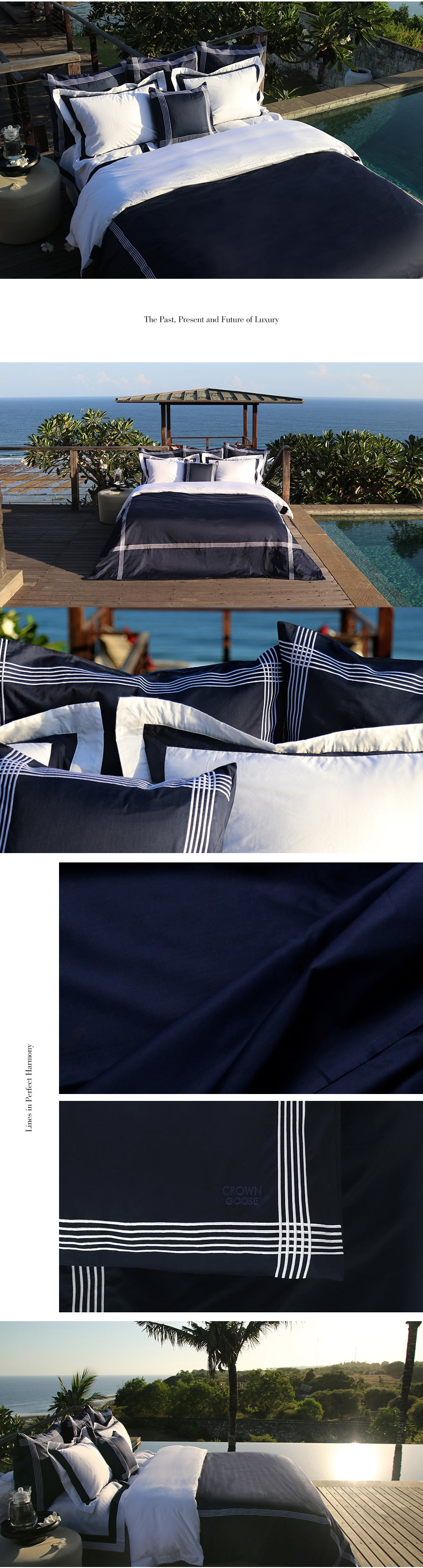 Duvet Cover Set De Rang Collection, Navy