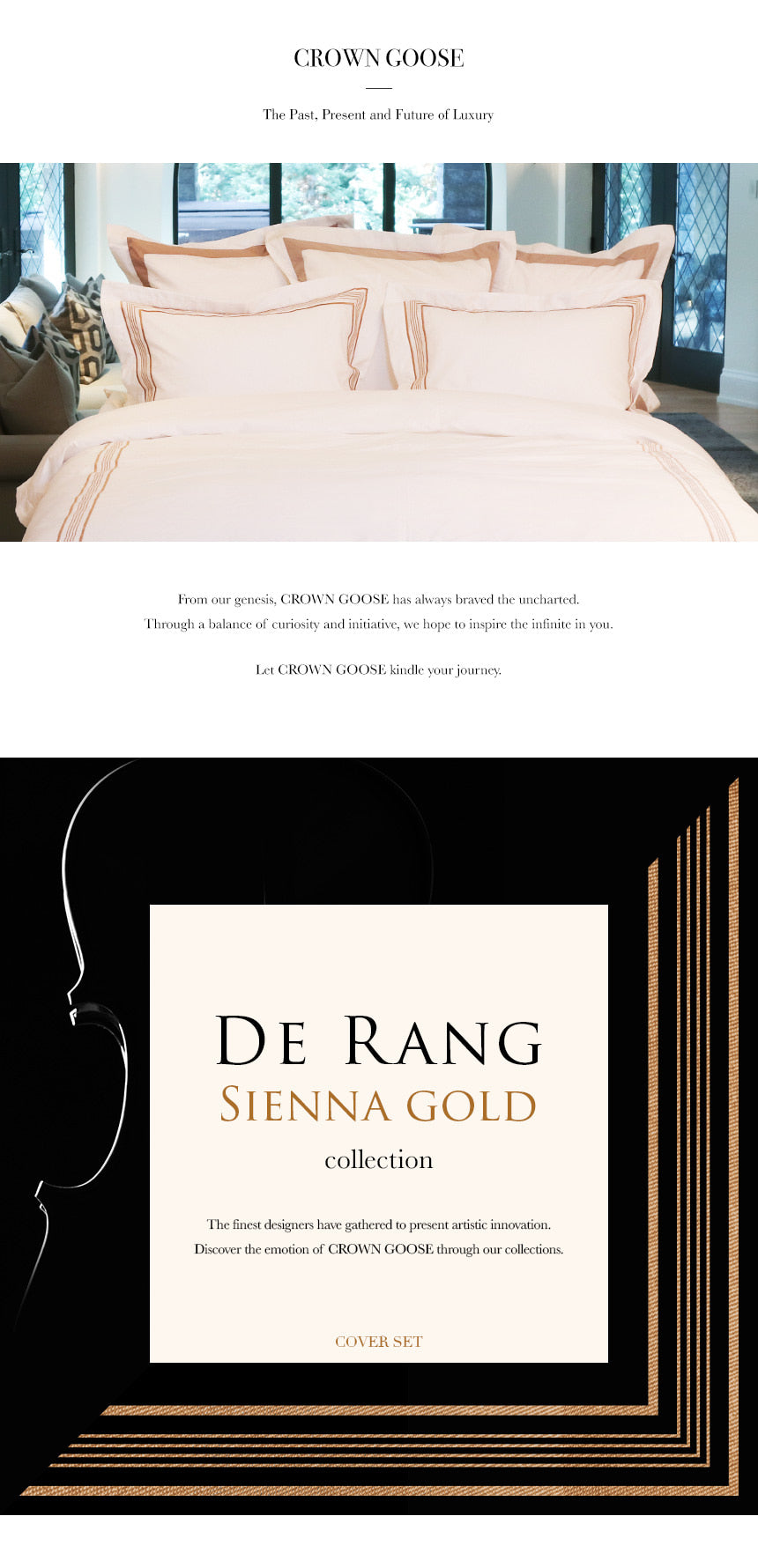 Duvet Cover Set De Rang Collection, Sienna Gold