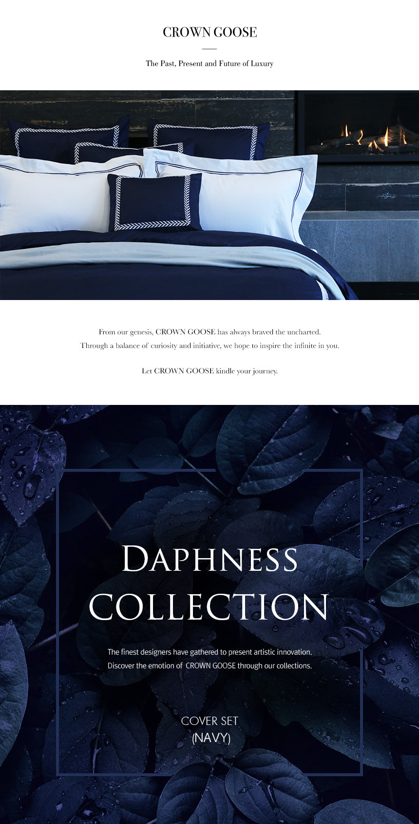 Duvet Cover Set Daphness Collection, Navy