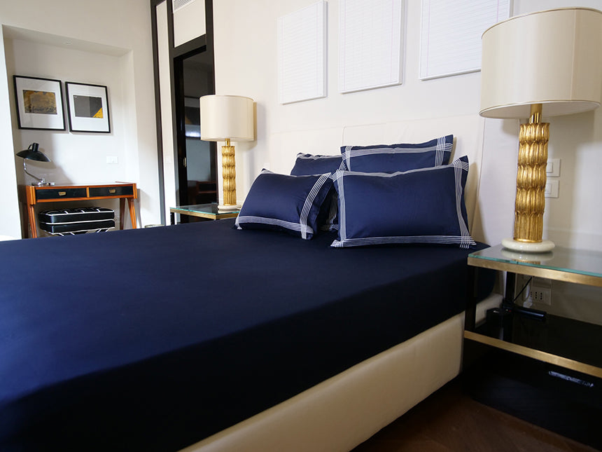 crowngoose-fitted-sheet-navy-mattress-cover