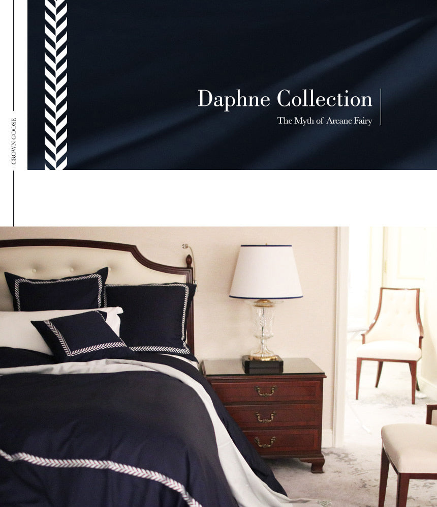 Duvet Cover Set | Daphne Collection, Navy