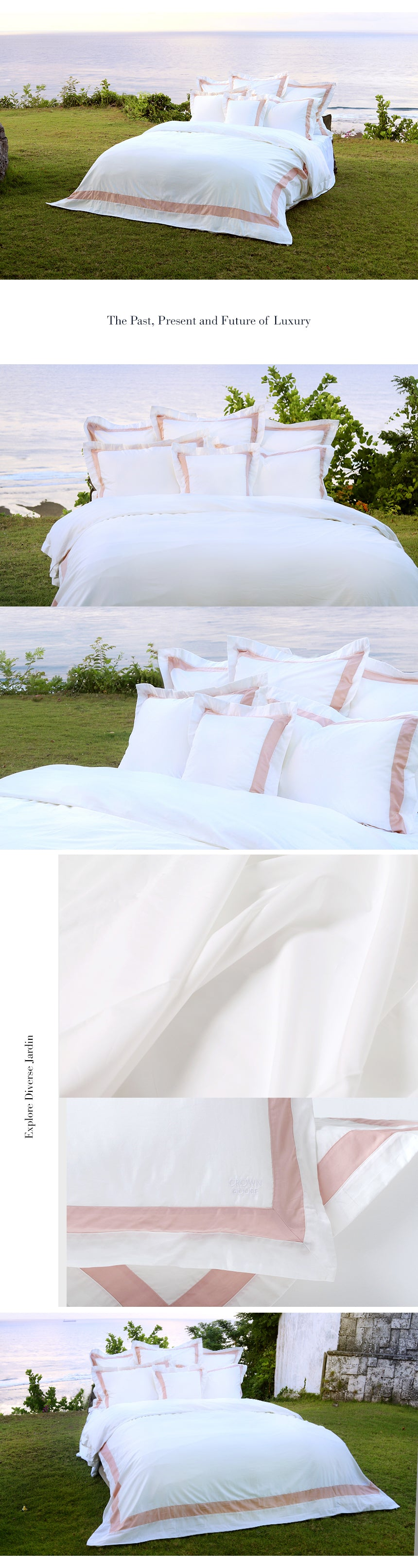 Duvet Cover Set Jardin Collection, Indi Pink