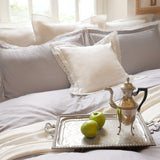 Duvet Cover Set Plie Collection, Gray - Crown Goose