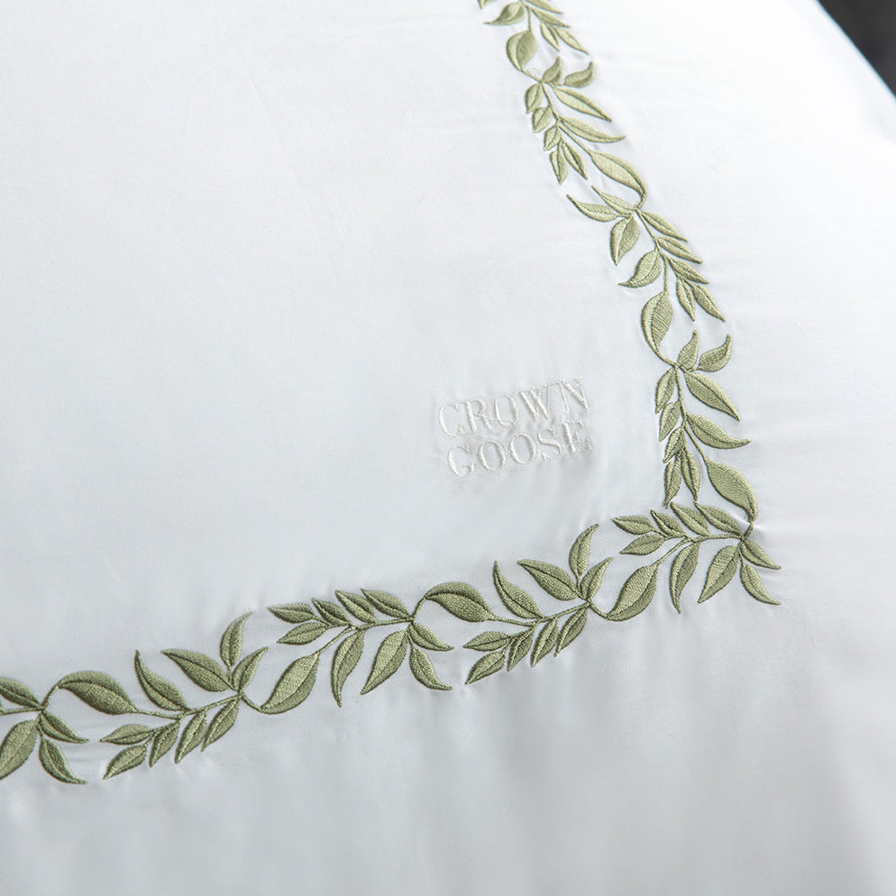 Duvet Cover Set Chloris Collection, Green - Crown Goose