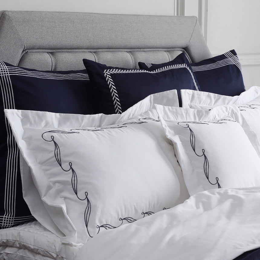 Duvet Cover Set Chloris Collection, Ash Gray - Crown Goose