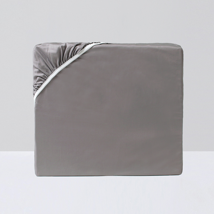 Fitted Sheet, Gray - Crown Goose