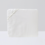 Fitted Sheet, White - Crown Goose
