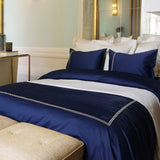 Duvet Cover Set Riviera Collection, Navy - Crown Goose