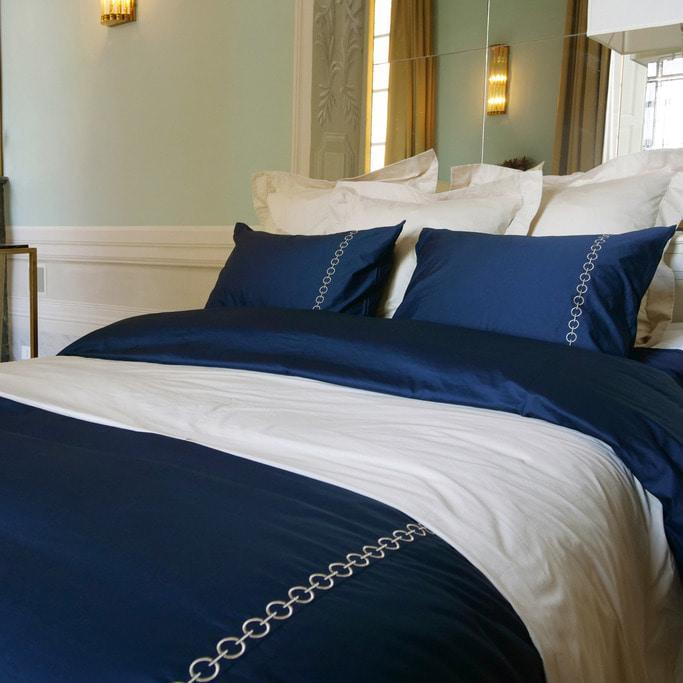 Duvet Cover Set Ecuries Collection, Deep Blue - Crown Goose