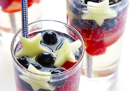 Sparking Red, White, and Blue Sangria