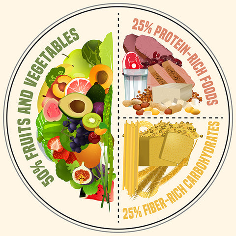 Balanced Meal Plate Graphic