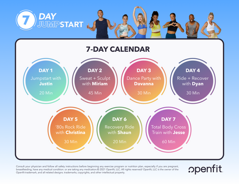 which workouts are part of 7 day jumpstart